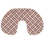 WOVEN2 WHITE MARBLE & RUSTED METAL (R) Travel Neck Pillows Front