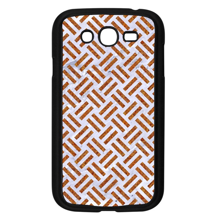 WOVEN2 WHITE MARBLE & RUSTED METAL (R) Samsung Galaxy Grand DUOS I9082 Case (Black)