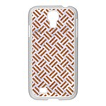 WOVEN2 WHITE MARBLE & RUSTED METAL (R) Samsung GALAXY S4 I9500/ I9505 Case (White) Front