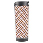 WOVEN2 WHITE MARBLE & RUSTED METAL (R) Travel Tumbler Left
