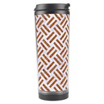 WOVEN2 WHITE MARBLE & RUSTED METAL (R) Travel Tumbler Right