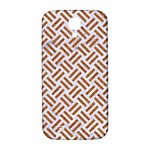 WOVEN2 WHITE MARBLE & RUSTED METAL (R) Samsung Galaxy S4 I9500/I9505  Hardshell Back Case Front
