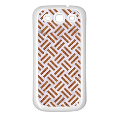 Woven2 White Marble & Rusted Metal (r) Samsung Galaxy S3 Back Case (white)