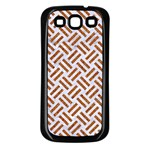 WOVEN2 WHITE MARBLE & RUSTED METAL (R) Samsung Galaxy S3 Back Case (Black) Front