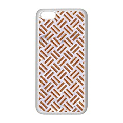 Woven2 White Marble & Rusted Metal (r) Apple Iphone 5c Seamless Case (white)