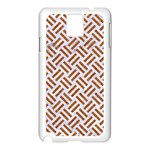 WOVEN2 WHITE MARBLE & RUSTED METAL (R) Samsung Galaxy Note 3 N9005 Case (White) Front