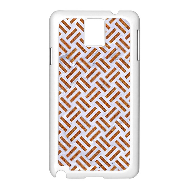 WOVEN2 WHITE MARBLE & RUSTED METAL (R) Samsung Galaxy Note 3 N9005 Case (White)
