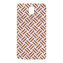 Woven2 White Marble & Rusted Metal (r) Samsung Galaxy Note 3 N9005 Hardshell Back Case