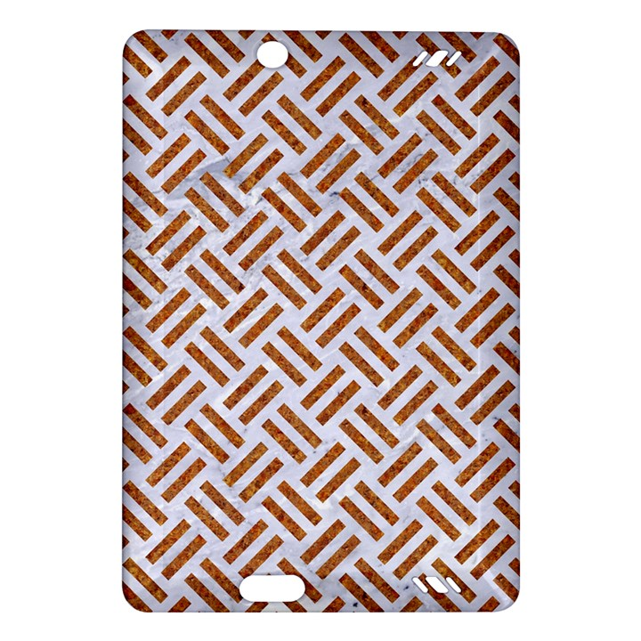 WOVEN2 WHITE MARBLE & RUSTED METAL (R) Amazon Kindle Fire HD (2013) Hardshell Case