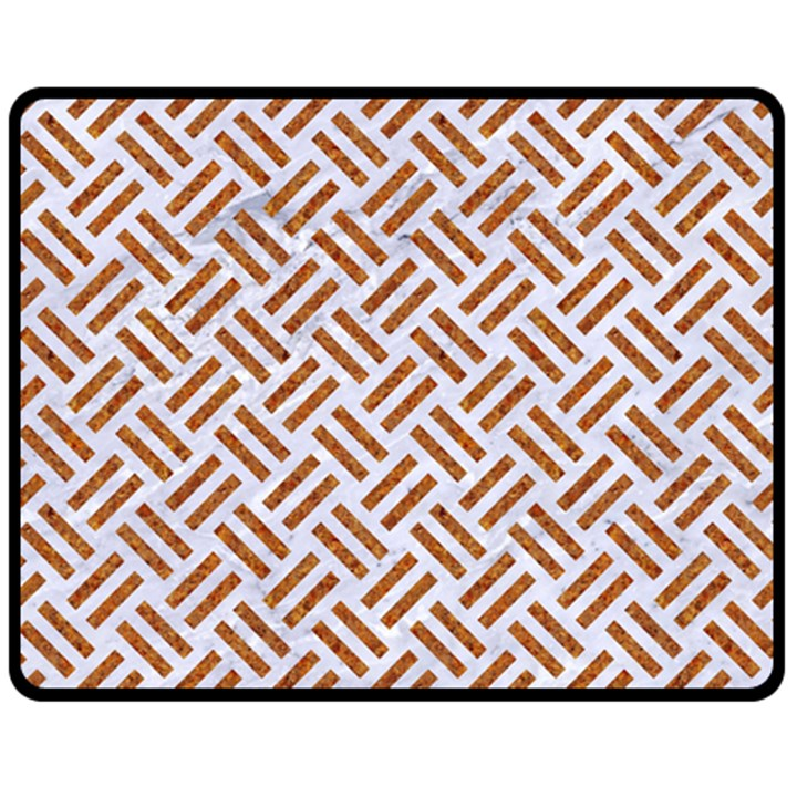 WOVEN2 WHITE MARBLE & RUSTED METAL (R) Double Sided Fleece Blanket (Medium)