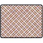 WOVEN2 WHITE MARBLE & RUSTED METAL (R) Double Sided Fleece Blanket (Medium)  58.8 x47.4 Blanket Back
