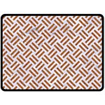WOVEN2 WHITE MARBLE & RUSTED METAL (R) Double Sided Fleece Blanket (Large)  80 x60 Blanket Back
