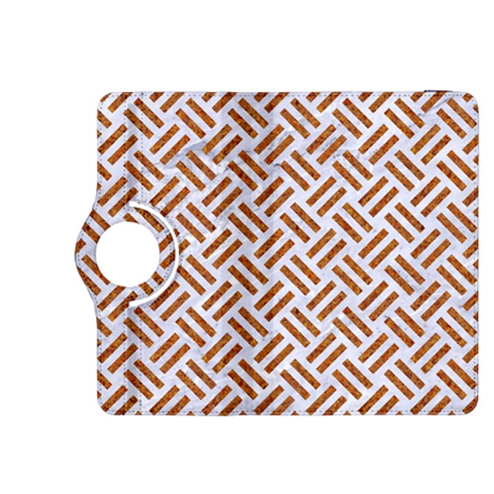 WOVEN2 WHITE MARBLE & RUSTED METAL (R) Kindle Fire HDX 8.9  Flip 360 Case