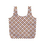 WOVEN2 WHITE MARBLE & RUSTED METAL (R) Full Print Recycle Bags (S)  Front