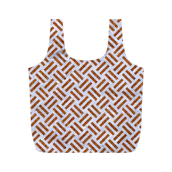WOVEN2 WHITE MARBLE & RUSTED METAL (R) Full Print Recycle Bags (M)