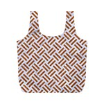 WOVEN2 WHITE MARBLE & RUSTED METAL (R) Full Print Recycle Bags (M)  Back