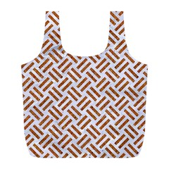 Woven2 White Marble & Rusted Metal (r) Full Print Recycle Bags (l)