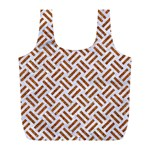 WOVEN2 WHITE MARBLE & RUSTED METAL (R) Full Print Recycle Bags (L)  Back