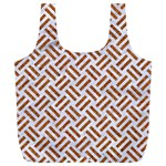 WOVEN2 WHITE MARBLE & RUSTED METAL (R) Full Print Recycle Bags (L)  Front