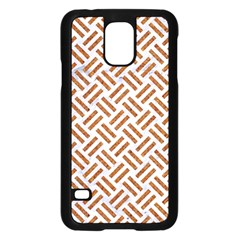 Woven2 White Marble & Rusted Metal (r) Samsung Galaxy S5 Case (black)