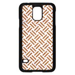 WOVEN2 WHITE MARBLE & RUSTED METAL (R) Samsung Galaxy S5 Case (Black) Front