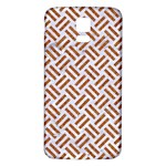 WOVEN2 WHITE MARBLE & RUSTED METAL (R) Samsung Galaxy S5 Back Case (White) Front