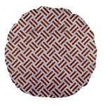WOVEN2 WHITE MARBLE & RUSTED METAL (R) Large 18  Premium Flano Round Cushions Back