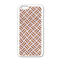 Woven2 White Marble & Rusted Metal (r) Apple Iphone 6/6s White Enamel Case