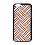 WOVEN2 WHITE MARBLE & RUSTED METAL (R) Apple iPhone 6/6S Black Enamel Case Front