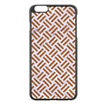 WOVEN2 WHITE MARBLE & RUSTED METAL (R) Apple iPhone 6 Plus/6S Plus Black Enamel Case Front