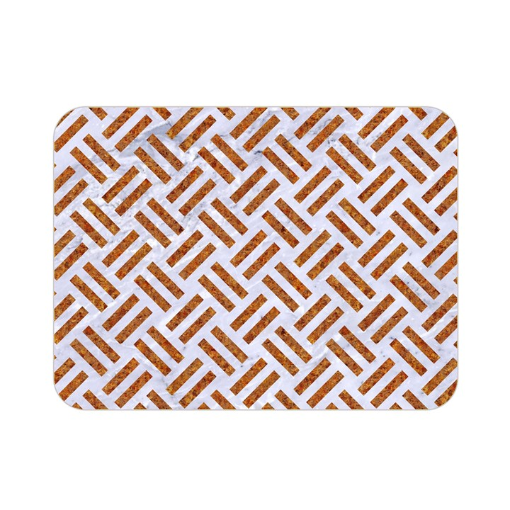 WOVEN2 WHITE MARBLE & RUSTED METAL (R) Double Sided Flano Blanket (Mini)