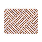 WOVEN2 WHITE MARBLE & RUSTED METAL (R) Double Sided Flano Blanket (Mini)  35 x27 Blanket Back