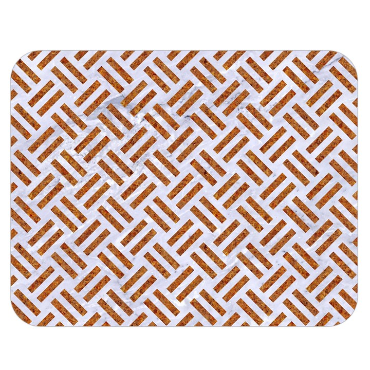WOVEN2 WHITE MARBLE & RUSTED METAL (R) Double Sided Flano Blanket (Medium)