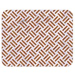 WOVEN2 WHITE MARBLE & RUSTED METAL (R) Double Sided Flano Blanket (Medium)  60 x50 Blanket Back