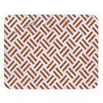 WOVEN2 WHITE MARBLE & RUSTED METAL (R) Double Sided Flano Blanket (Large)   Blanket Back