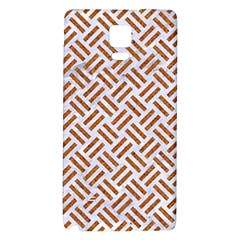 Woven2 White Marble & Rusted Metal (r) Galaxy Note 4 Back Case
