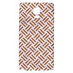 WOVEN2 WHITE MARBLE & RUSTED METAL (R) Galaxy Note 4 Back Case Front