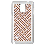 WOVEN2 WHITE MARBLE & RUSTED METAL (R) Samsung Galaxy Note 4 Case (White) Front