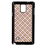 WOVEN2 WHITE MARBLE & RUSTED METAL (R) Samsung Galaxy Note 4 Case (Black) Front