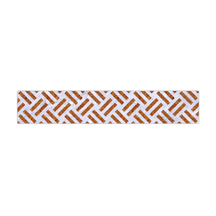 WOVEN2 WHITE MARBLE & RUSTED METAL (R) Flano Scarf (Mini)