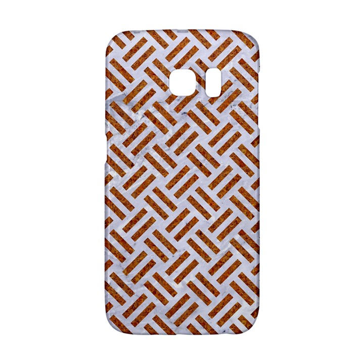 WOVEN2 WHITE MARBLE & RUSTED METAL (R) Galaxy S6 Edge