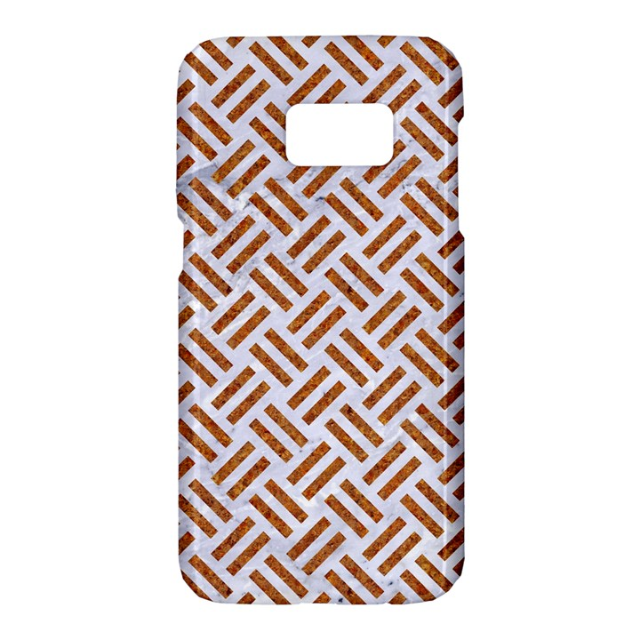 WOVEN2 WHITE MARBLE & RUSTED METAL (R) Samsung Galaxy S7 Hardshell Case