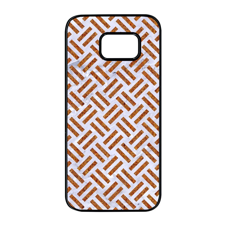 WOVEN2 WHITE MARBLE & RUSTED METAL (R) Samsung Galaxy S7 edge Black Seamless Case