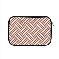 Woven2 White Marble & Rusted Metal (r) Apple Macbook Pro 15  Zipper Case