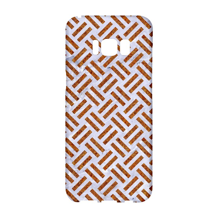 WOVEN2 WHITE MARBLE & RUSTED METAL (R) Samsung Galaxy S8 Hardshell Case