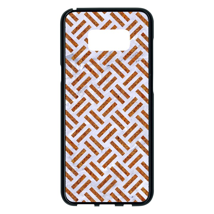 WOVEN2 WHITE MARBLE & RUSTED METAL (R) Samsung Galaxy S8 Plus Black Seamless Case