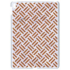 Woven2 White Marble & Rusted Metal (r) Apple Ipad Pro 9 7   White Seamless Case