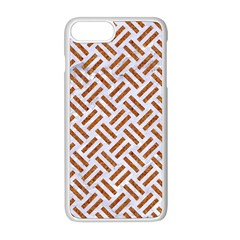 Woven2 White Marble & Rusted Metal (r) Apple Iphone 8 Plus Seamless Case (white)