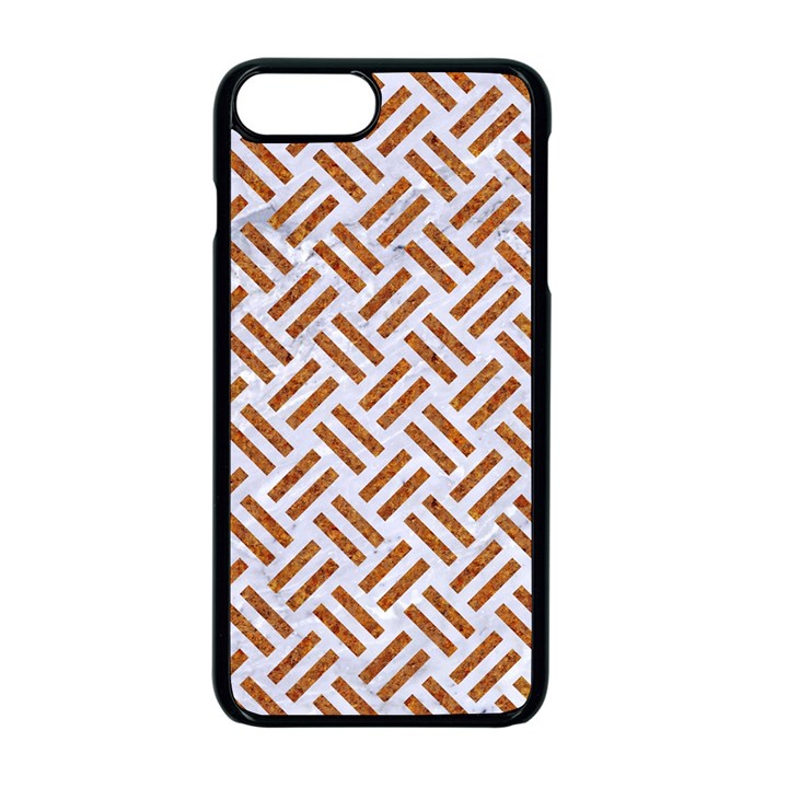 WOVEN2 WHITE MARBLE & RUSTED METAL (R) Apple iPhone 8 Plus Seamless Case (Black)