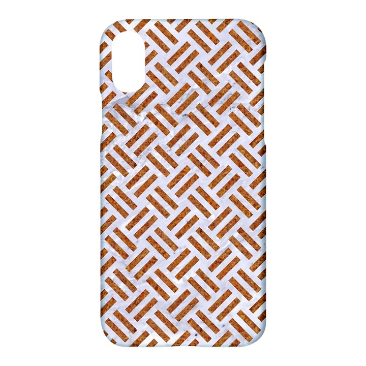 WOVEN2 WHITE MARBLE & RUSTED METAL (R) Apple iPhone X Hardshell Case